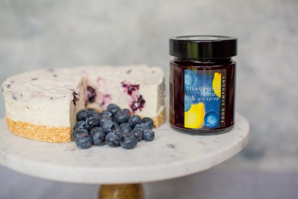 blueberries in lemon and gin syrup pancakes desserts cheesecake